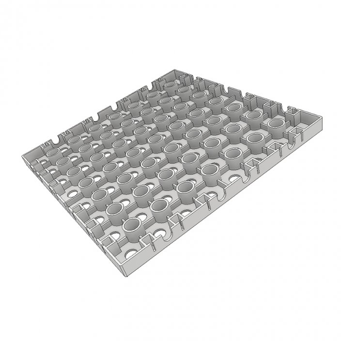 Plastic flooring - base plate