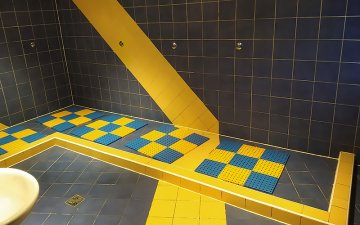 Shower floor in the SBA Sports Club