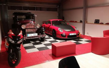 The GripTil plastic system is an ideal garage floor