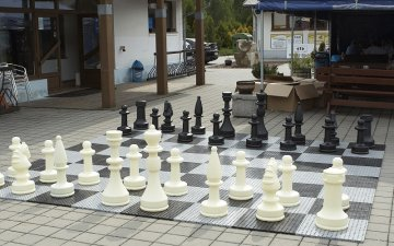 Plastic giant chess on offer