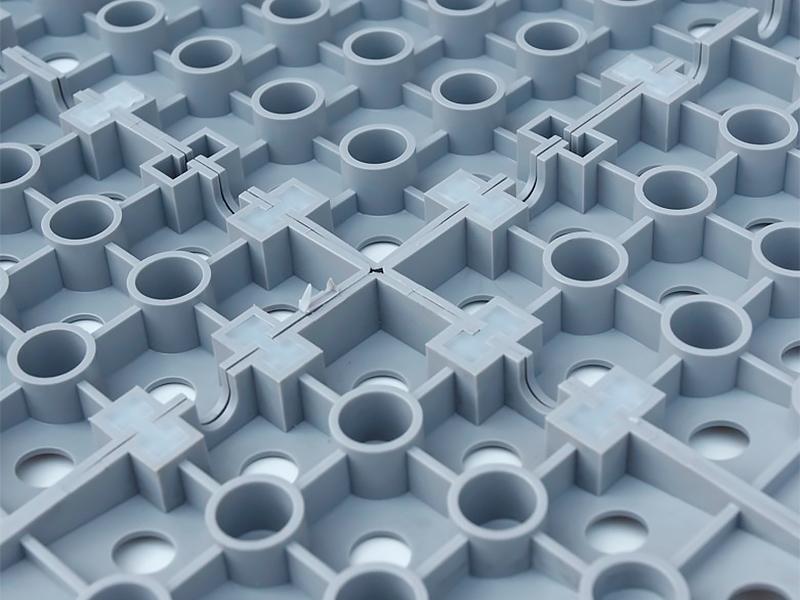 Plastová podlah GripTil- instalace